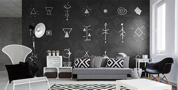 Fototapeta černobílé symboly