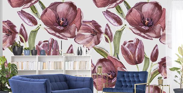 Fototapeta červené tulipány