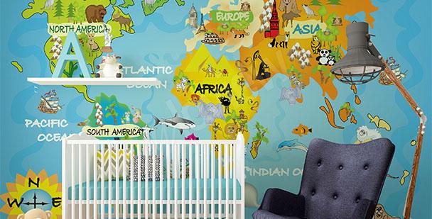 Fototapeta dětská mapa