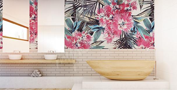 Fototapeta do koupelny exotické květiny