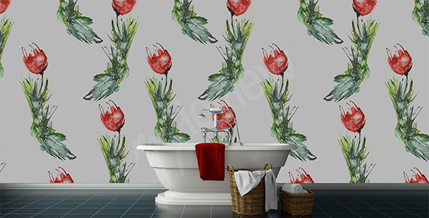 Fototapeta do koupelny tulipány