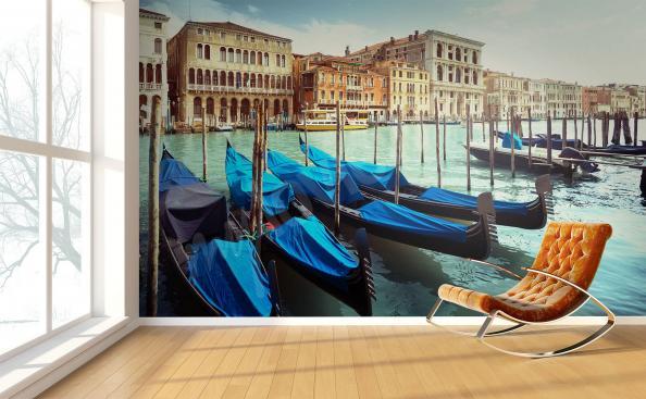 Fototapeta gondoly v Benátkách
