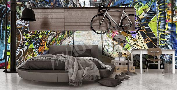 Fototapeta graffiti 3D