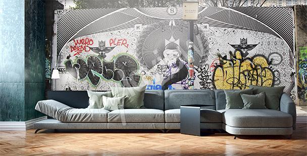 Fototapeta graffiti v Šanghaji