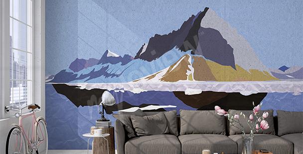 Fototapeta grafická horská krajina