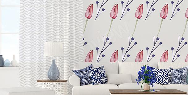 Fototapeta grafické tulipány
