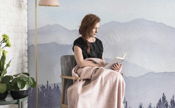 Fototapeta horskákrajina v akvarelu