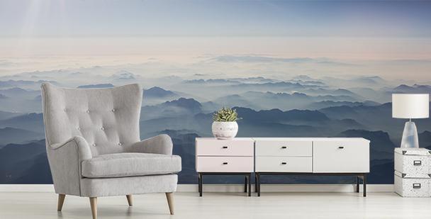 Fototapeta hory z ptačího pohledu