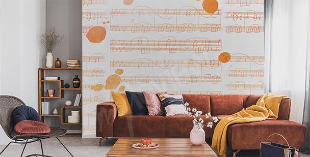 Fototapeta hudba do obývacího pokoje