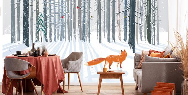 Fototapeta liška v lese