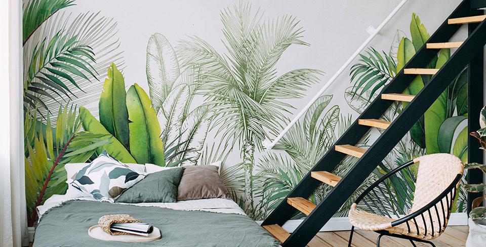 Fototapeta listí a palmy