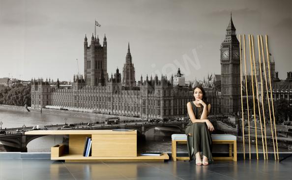 Fototapeta Londýn 3D v obývacím pokoji
