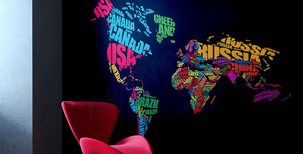 Fototapeta mapa a kontinenty