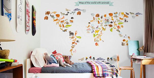 Fototapeta mapa pro děti
