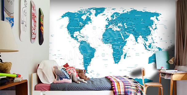 Fototapeta mapa světa do pokoje