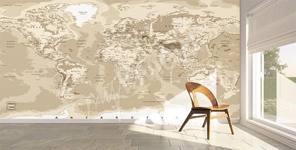 Fototapeta mapa světa retro