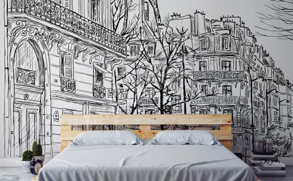 Fototapeta město Paříž