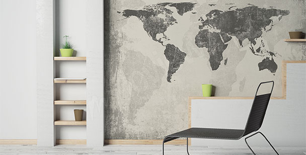 Fototapeta minimalistická mapa