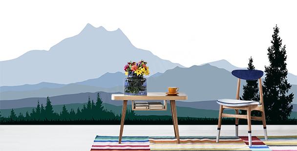Fototapeta minimalistická pohoří
