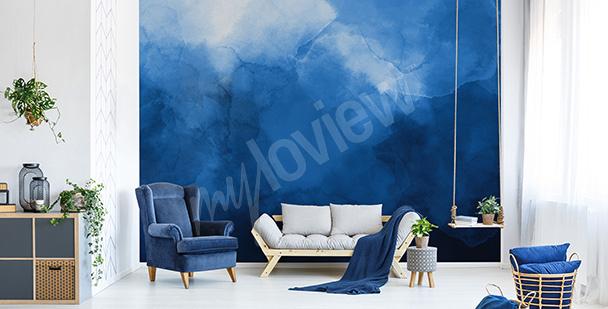 Fototapeta modrý akvarel