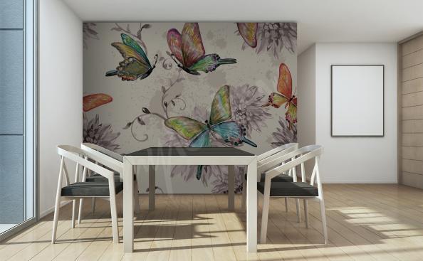 Fototapeta motýli do jídelny