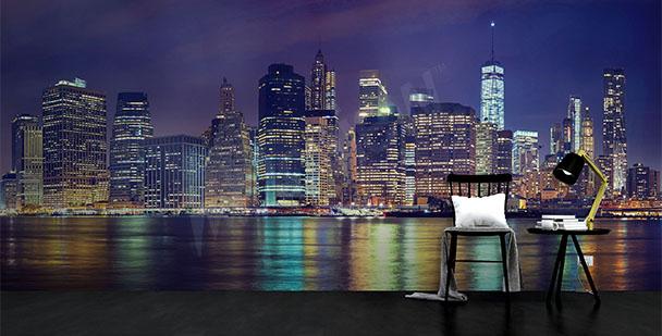 Fototapeta New York v noci