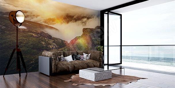 Fototapeta obývací pokoj hory
