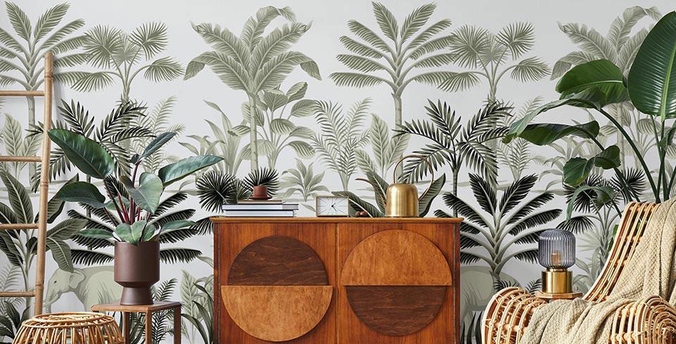 Fototapeta palmy vintage