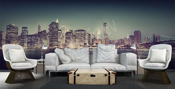 Fototapeta panorama města 3D