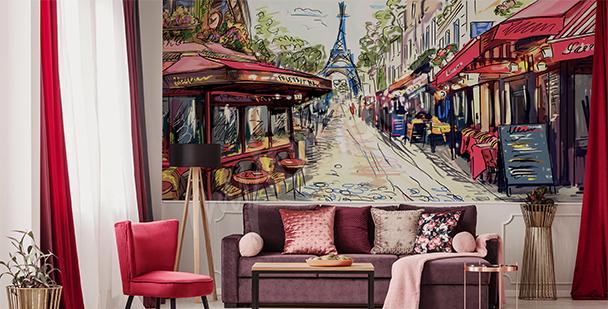 Fototapeta pařížská alej
