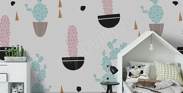 Fototapeta pastelové kaktusy