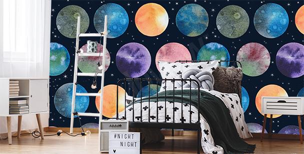 Fototapeta planety do ložnice teenagera