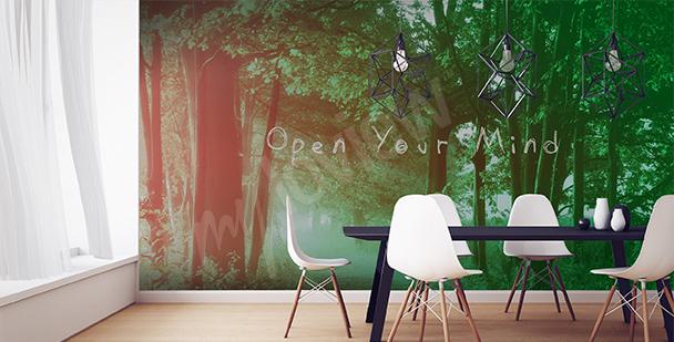 Fototapeta pohled na les