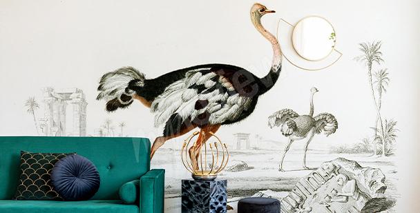 Fototapeta ptáci ve stylu glamour
