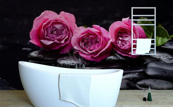 Fototapeta růže 3d do koupelna