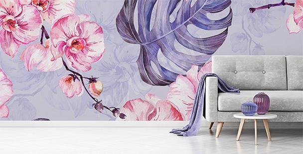 Fototapeta růžové květy orchidejí