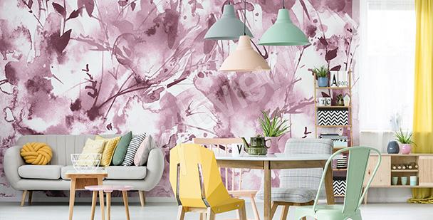 Fototapeta růžový akvarel