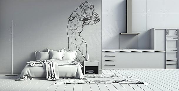 Fototapeta skica nahá žena