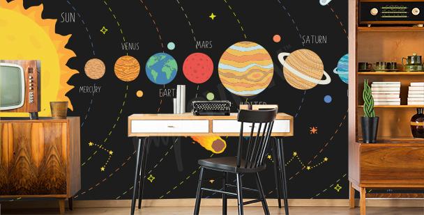 Fototapeta Sluneční soustava do kanceláře