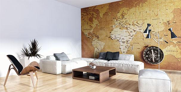 Fototapeta stará mapa do obývacího pokoje