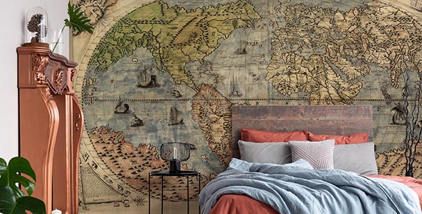 Fototapeta starověká retro mapa