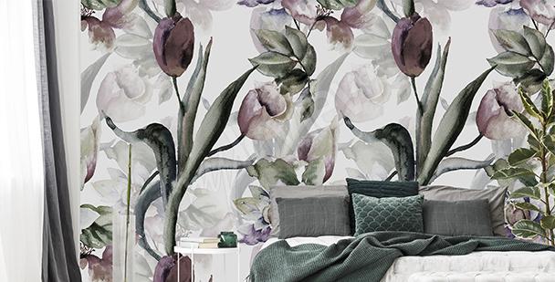 Fototapeta tulipány akvarel