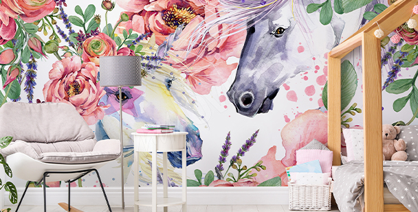 Fototapeta ve stylu floral