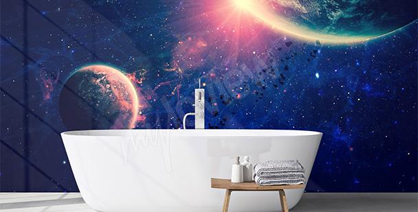 Fototapeta vesmír do koupelny