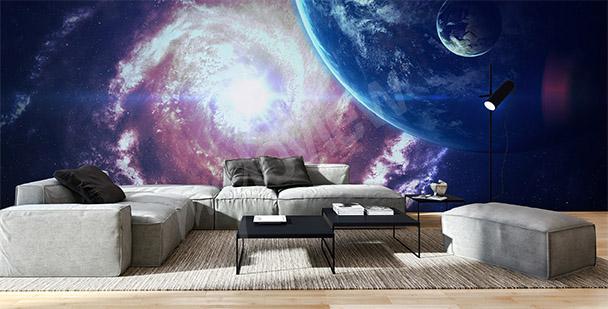 Fototapeta vesmír obývacího pokoje