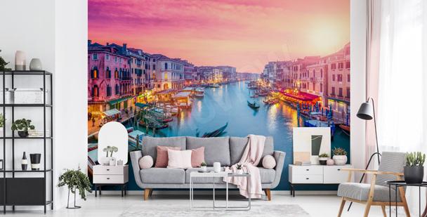 Fototapeta západ slunce v Benátkách