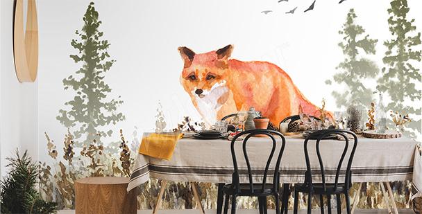 Fototapeta zvíře malované akvarelem
