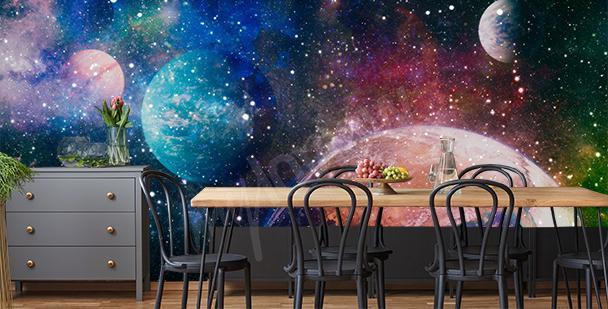 Galaktická fototapeta do jídelny