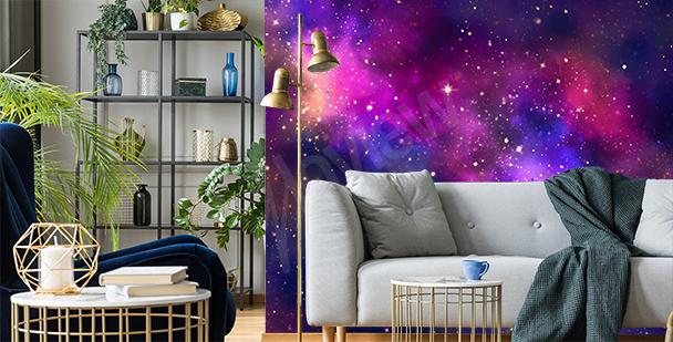 Galaktická fototapeta do obývacího pokoje