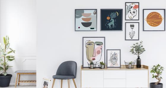 Galery wall v 5 podobách – vyzdobte si pokoj ve svém stylu